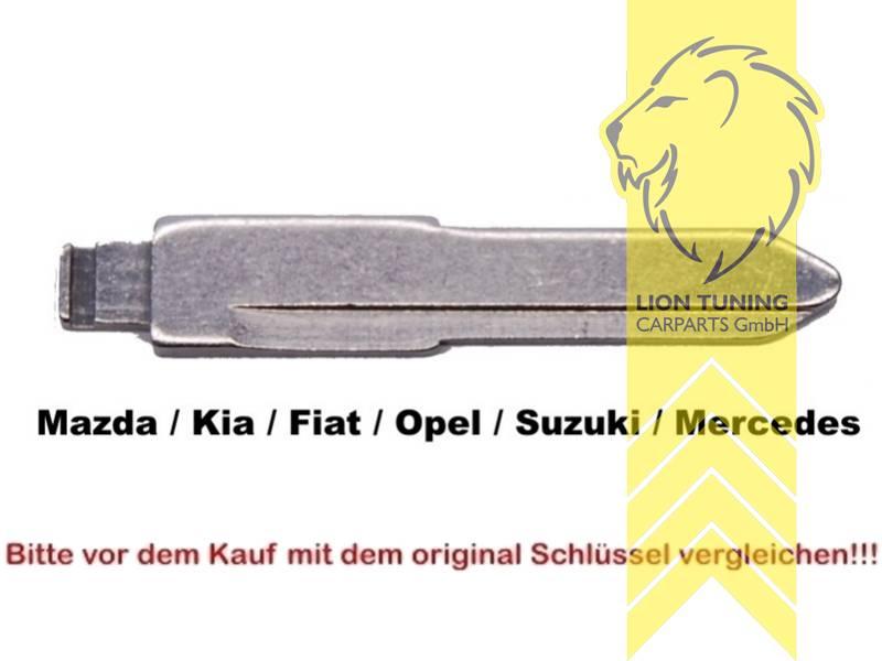 Schlüsselrohlinge für Klappschlüssel Zentralverriegelung Ford Jaguar Mazda