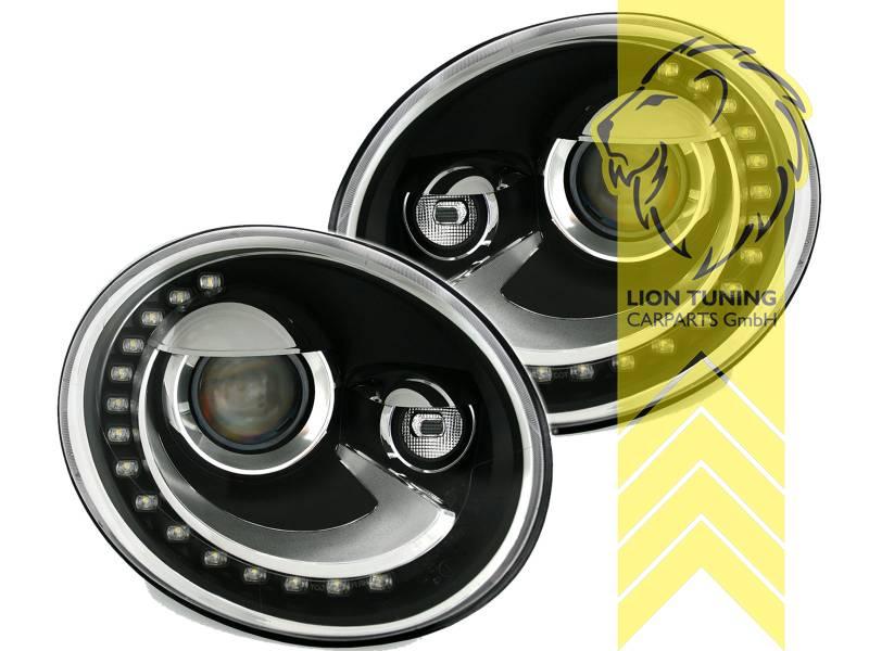 scheinwerfer echtes led tagfahrlicht f r vw beetle 5c. Black Bedroom Furniture Sets. Home Design Ideas