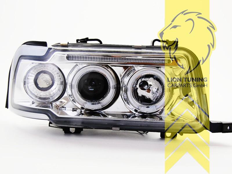 led angel eyes scheinwerfer f r audi 80 b4 limousine avant. Black Bedroom Furniture Sets. Home Design Ideas