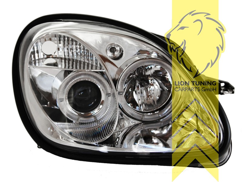 Lichter Leuchten Led Angel Eyes Scheinwerfer Für Mercedes Benz Slk R170 Chrom Itegogps Com