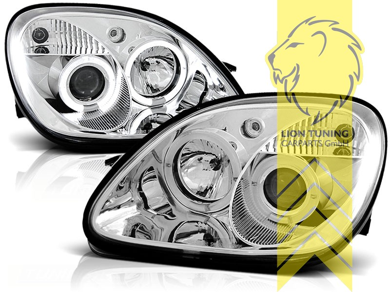 Liontuning Tuningartikel Für Ihr Auto Lion Tuning Carparts Gmbh Angel Eyes Scheinwerfer Mercedes Benz Slk R170 Chrom