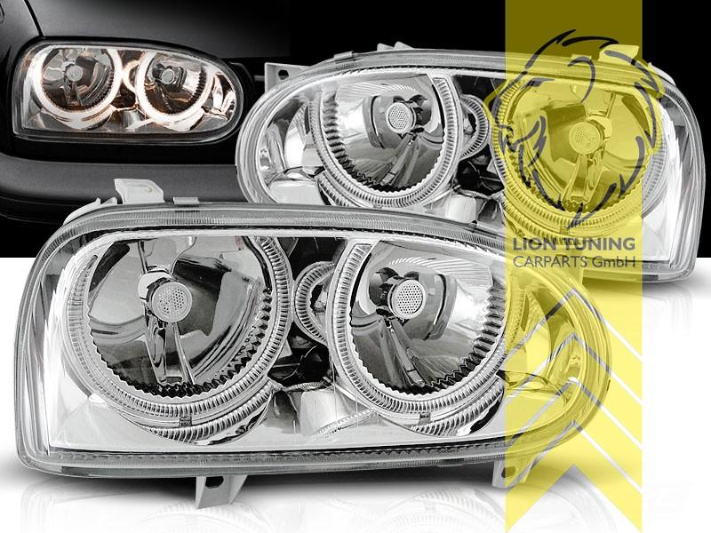 DEPO Angel Eyes Scheinwerfer für VW Passat 3B Limousine Variant chrom