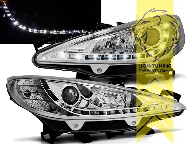 led tagfahrlicht optik scheinwerfer f r peugeot 207 207cc. Black Bedroom Furniture Sets. Home Design Ideas