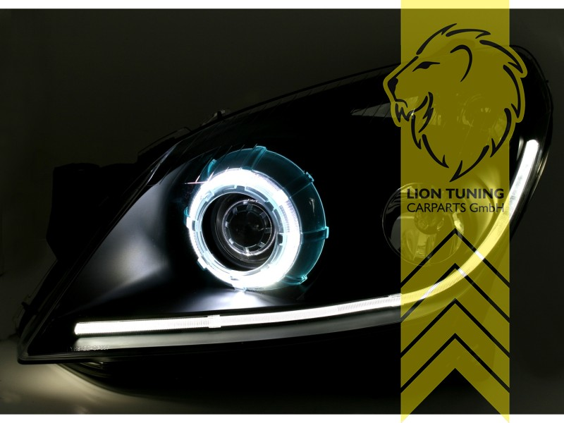 Led Angel Eyes Tfl Optik Scheinwerfer Fur Opel Astra H Led