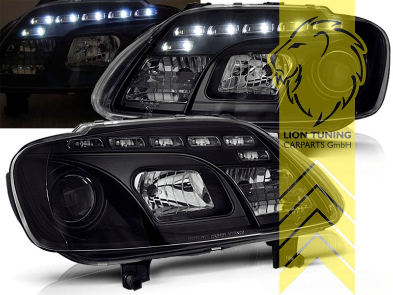led tagfahrlicht optik scheinwerfer f r vw touran caddy 3. Black Bedroom Furniture Sets. Home Design Ideas