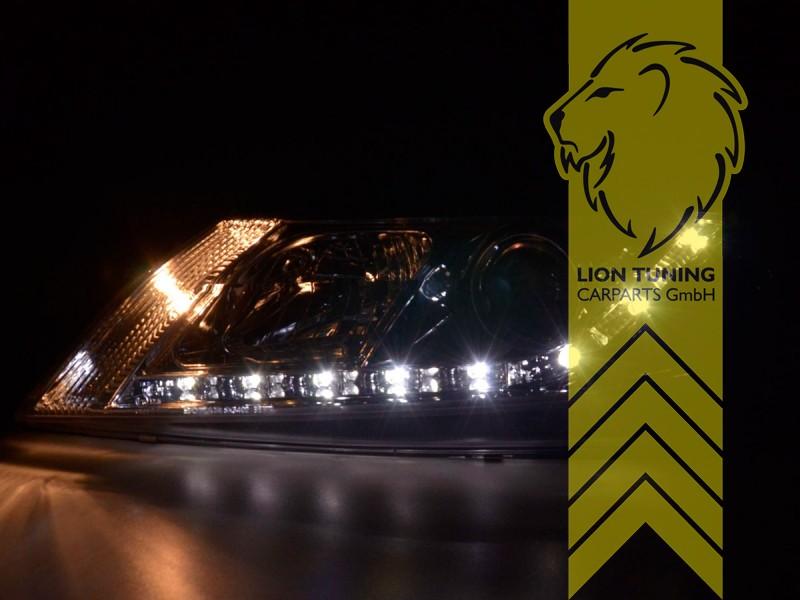 LED Tagfahrlicht Optik Scheinwerfer für Renault Laguna 2 Limo Grandtour chrom