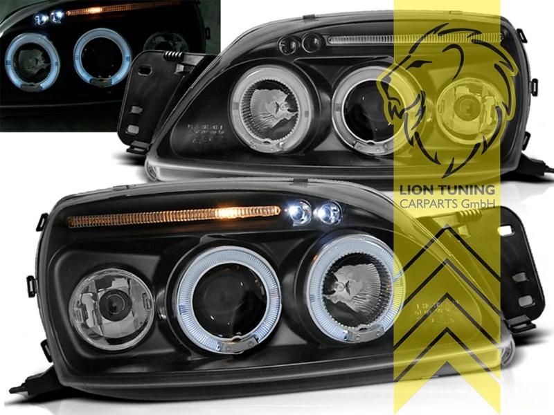 9.99 Angel Eyes klarglas//chrom Scheinwerfer Set Fiesta Typ JAS//JBS 8.95