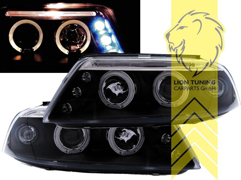 led angel eyes scheinwerfer f r vw passat 3bg limousine. Black Bedroom Furniture Sets. Home Design Ideas