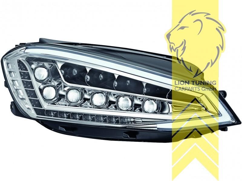 voll led scheinwerfer echtes tfl f r vw golf 7 limousine. Black Bedroom Furniture Sets. Home Design Ideas
