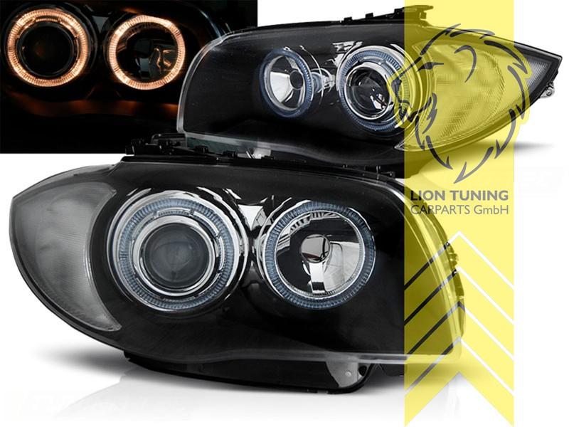 led angel eyes scheinwerfer f r bmw 1er e81 e82 e87 e88. Black Bedroom Furniture Sets. Home Design Ideas