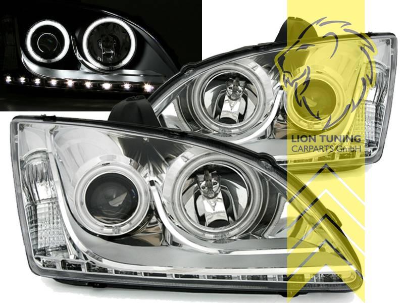 ccfl angel eyes scheinwerfer f r ford focus 2 flie heck. Black Bedroom Furniture Sets. Home Design Ideas
