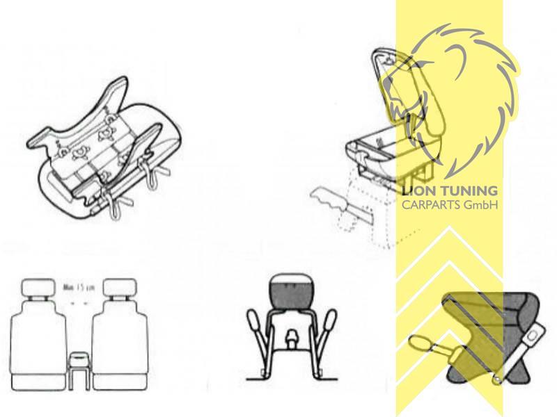 Mittelarmlehne Armauflage Lehne universal mit Cup Holder und Staufach carbon