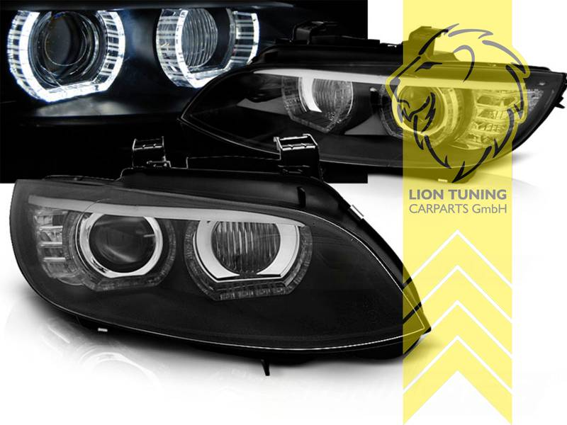 led angel eyes scheinwerfer f r bmw e92 coupe e93 cabrio. Black Bedroom Furniture Sets. Home Design Ideas