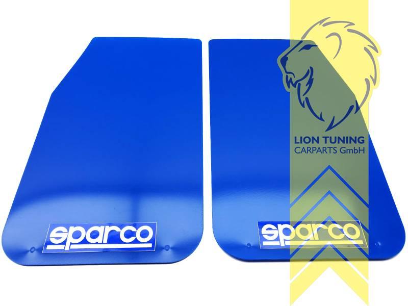 Liontuning Tuningartikel Für Ihr Auto Lion Tuning Carparts Gmbh 2x Sparco Universal Schmutzfänger Spritzschutz Mud Flaps Splash Guards Blau