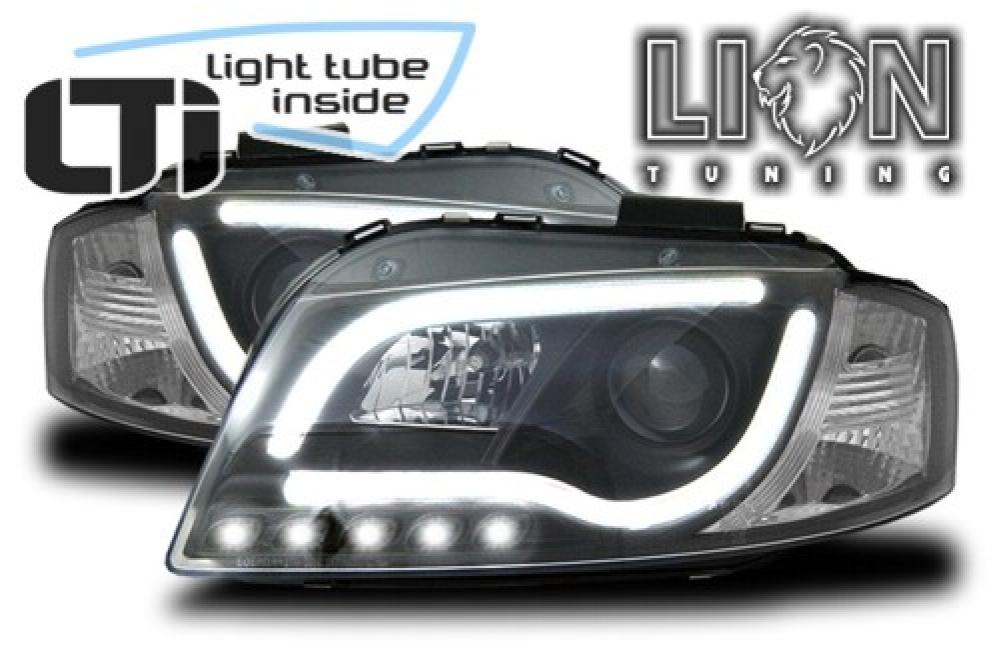 led tagfahrlicht optik scheinwerfer tube design audi a3 8p. Black Bedroom Furniture Sets. Home Design Ideas